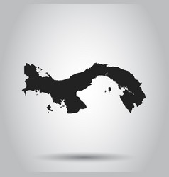 panama map black icon on white background vector image