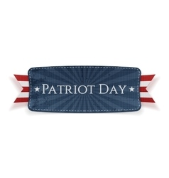 Patriot Day Banner isolated on white Background vector