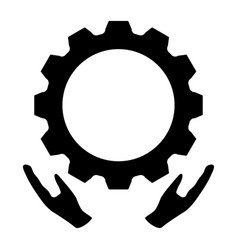 Preventative maintenance the black color icon vector