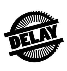 Print delay stamp on white vector