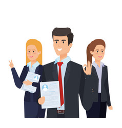 Professional elegant businesspeople with executive vector
