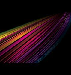 rainbow whoosh vector image