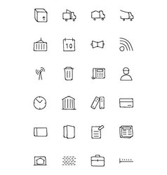 Real Estate Hand Drawn Doodle Icons 5 vector image