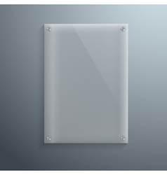 Realistic Glass Plate Template Icon EPS10 vector image