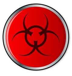 Red bio hazard emergency button vector