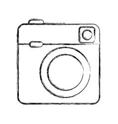 retro camera photographic isolated icon vector image vector image