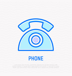 retro telephone thin line icon vector image