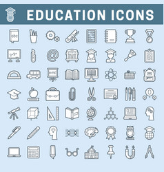 school and education editable icons with fill vector image