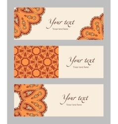 Set of ethnic banners vector