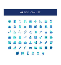 set office icon with flat style design vector image