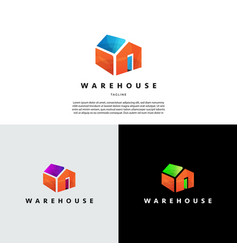 simple abstract ware house building logo sign vector image