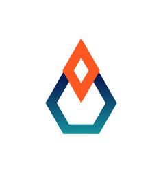 simple diamond logo icon vector image