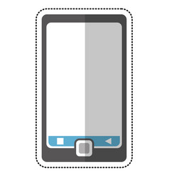 Smartphone mobile technology cut line vector