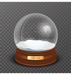 Snow globe new year and christmas realistic object vector