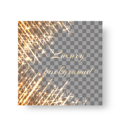 square background with flickering rays vector image