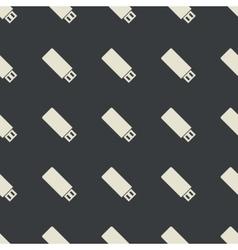 Straight black USB stick pattern vector
