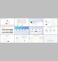 templates for website design minimal vector image