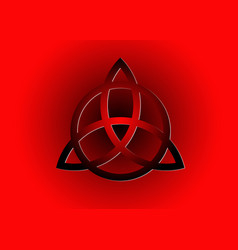 Triquetra logo trinity knot wiccan symbol sign vector