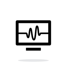 TV signal simple icon on white background vector image