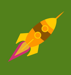 upward rocket with round window vector image