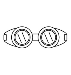 Welding glasses icon outline style vector