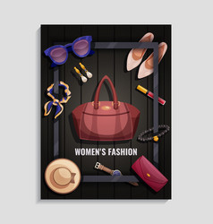 women accessories poster vector image