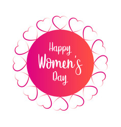 women day label vector image