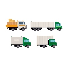 Work trucks set vector
