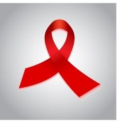 Aids red ribbon awareness day symbol vector image