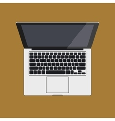 eps 10 Top view of laptop vector image vector image