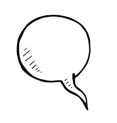 Hand drawn bubble speech doodle isolated vector image vector image