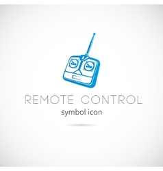 Remote control silhouette symbol icon or label vector