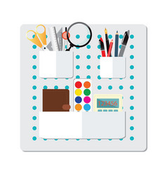 box full of office supply vector image