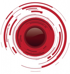camera red dot vector image vector image