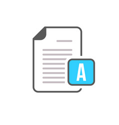 document file page text icon vector image vector image