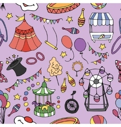 Doodle patern circus vector image