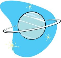 Retro Planet Neptune vector image vector image