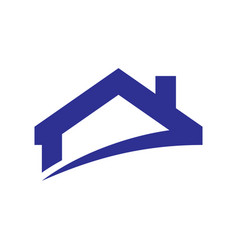 roof home building logo vector image vector image