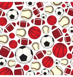 various sport balls seamless color pattern eps10 vector image vector image
