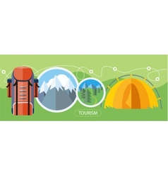 Camping Tourism Concept vector image