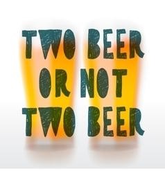 Drink beer poster vector image