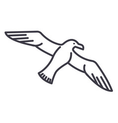 gullseagull line icon sign vector image vector image