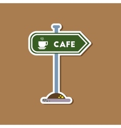 paper sticker on stylish background cafe sign vector image vector image