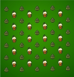 St Patricks Day Green background icon set vector image vector image