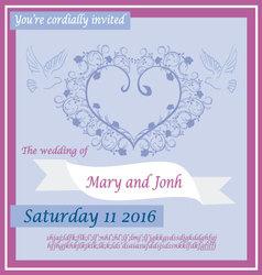wedding invitation 2 vector image