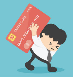 businessman credit cards loan liability real vector image vector image