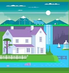modern prefabricated family house vector image