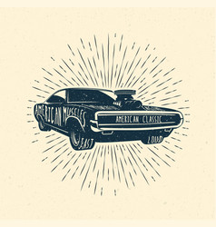 muscle car vintage styled vector image