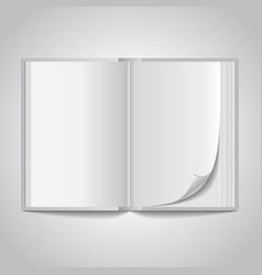 open blank book vector image