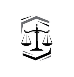a stylish scales justice logo design for law vector image